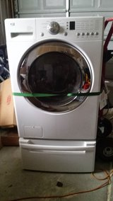 Nice Super Capacity LE Washing Machine With Pedestal in Chicago, Illinois