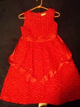 Valentines?  Cranberry Red Girl's Size 16 Occassion Dress Rare Editions in St. Charles, Illinois