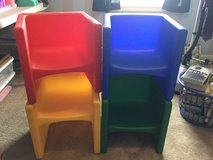 Set of 4 heavy duty cube chairs in Fort Campbell, Kentucky