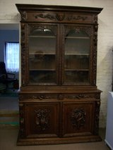 Carved Oak Victorian Bookcase in Lakenheath, UK