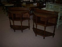 Pair of Carved Oak Victorian Tables in Lakenheath, UK
