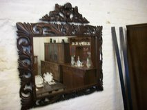 Victorian Oak Mirror in Lakenheath, UK