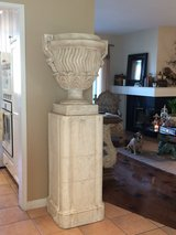 Large Decorative Urn and Base in San Clemente, California