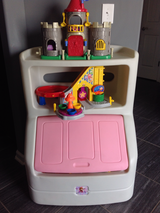 Toys Box with book case pink in Fort Campbell, Kentucky