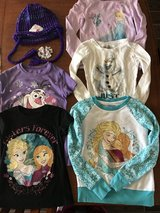 Girls Disney Frozen size 6x/S shirts, hat and hair bow in Byron, Georgia