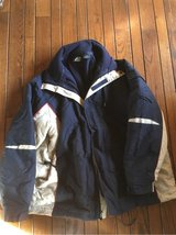 Men's Athletech Navy-blue and Beige Jacket, like new and lined,size large in Naperville, Illinois
