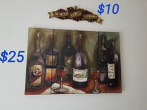3 Piece Wine Painting and Wall Decor in Ramstein, Germany