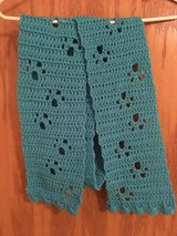 Handmade Teal Paw Print Scarf in Chicago, Illinois