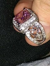 925 silver pink topaz and cubic zirconia engagement ring in Nellis AFB, Nevada