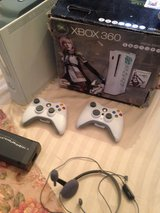 SPECIAL EDITION XBOX 360 WITH 2 JOYSTICKS AND HEAD SET ALL PLUGS in Camp Lejeune, North Carolina
