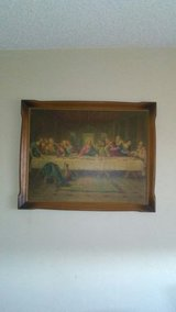 Antique oak  picture of the last supper in 29 Palms, California