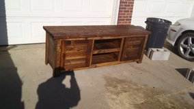Beautiful rustic homemade tv stand in Bellevue, Nebraska