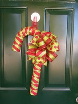 Red/Green Candy Cane Door Hanger/Wreath in Naperville, Illinois