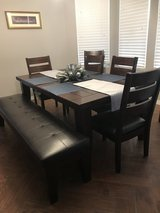 Dining Table w/leaf &bench in 29 Palms, California