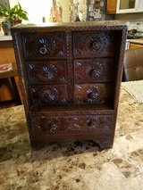 Unique Handcarved Wood Chest in Fort Campbell, Kentucky
