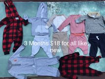 Baby boy clothes 3 Months in Camp Pendleton, California