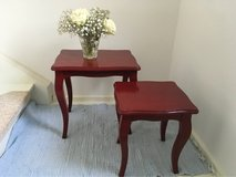 set of 2 beautiful vintage painted little side tables in Ramstein, Germany