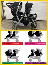 Chicco double stroller in Oswego, Illinois
