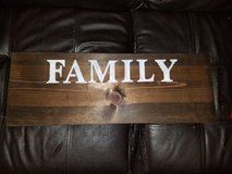"wood ""family "" sign in Fort Campbell, Kentucky"
