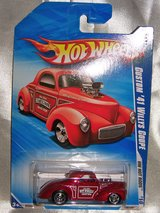2010 Hot Wheels Red Custom '41 Willys Coupe - Sealed in Blister Pack in Alamogordo, New Mexico