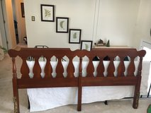 Antique king size cherry headboard in Naperville, Illinois