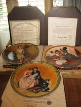 3 norman rockwell plates in Perry, Georgia