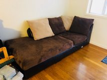 leather brown couch in Virginia Beach, Virginia