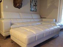 White Leather Sectional in Perry, Georgia