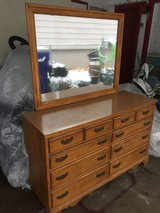 """8 drawer Dresser 50x18"""" 31"""" tall solid wood in Fort Riley, Kansas"""