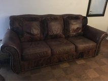 100% leather and cow hide couch and love seat, like New in Shreveport, Louisiana