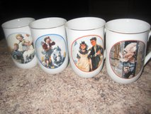 Norman Rockwell (2 Sets of 4) Mugs in Schaumburg, Illinois