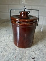 Old useable brown crock in Naperville, Illinois