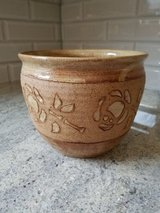 Decorative clay flower pot in Glendale Heights, Illinois