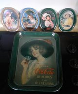 Set of 10 coca cola tins from the 70's in Yucca Valley, California