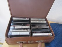 12 old cassette tapes with leather case in Alamogordo, New Mexico