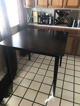 Black table + 4 chairs in Alamogordo, New Mexico