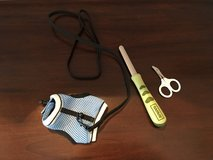 3 Small Pet Accessories (Vest with Leash + Nail Trimming Supplies) in Lockport, Illinois