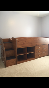 Twin loft bed with drawers stairs in St. Charles, Illinois
