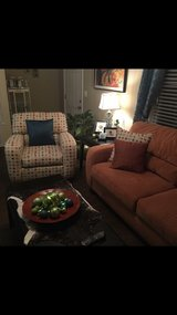 couch and chair with End tables and coffee table in Savannah, Georgia