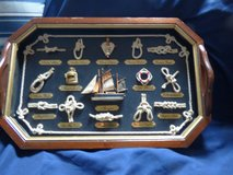 Nautical wood tray with knots in DeKalb, Illinois