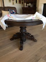 Antique pedestal table in Vacaville, California