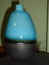 "6-3/4"" blue/brown pottery in Oswego, Illinois"