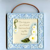 """AMSCAN """"FRIEND"""" CERAMIC WALL PLAQUE 4x4 in Glendale Heights, Illinois"""