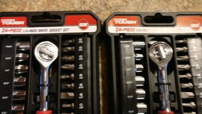 hyper tough  24 piece1/4 inch drive socket set in Orland Park, Illinois