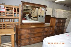 Mid-Century Dresser, Mirror & Hi-Boy Chest in Fort Lewis, Washington