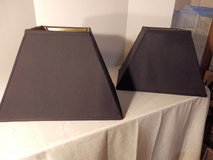 2 Black Lamp Shades in Aurora, Illinois