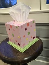 Hand Painted Decorative Tissue (Kleenex) Holder for Girls Room (Pastel Colors) in Naperville, Illinois
