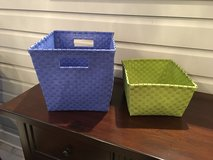 Green Land of Nod Strapping Baskets (3 for sale, 2 sizes) in St. Charles, Illinois