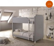 GREY TWIN OVER TWIN BUNK BED FREE DELIVERY in Huntington Beach, California