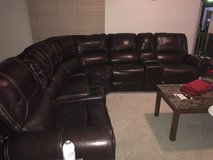 Leather 7-piece detachable sectional sofa in Rolla, Missouri